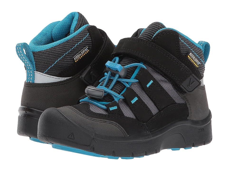 Keen Kids Hikeport Mid WP (Toddler/Little Kid) (Black/Blue Jewel) Boys Shoes