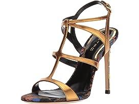 EtroMetallic Strappy Heel