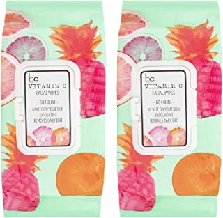 Beauty Concepts - 2 Pack (60 Count Each) Vitamin C Facial Wipes