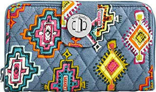 Women's Rfid Turnlock Wallet Painted Medallions One Size
