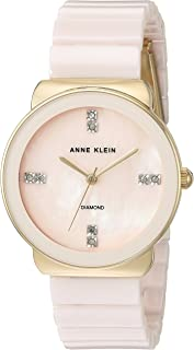 Anne Klein Women's Diamond-Accented and Ceramic Bracelet Watch