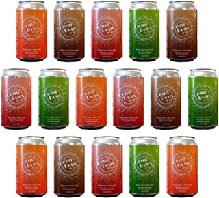 Demi Doux Low Sugar Soda - Soft Drink Made with Real Cane Sugar and No Artificial Sweeteners, 4 Flavor Variety Pack - Cola...