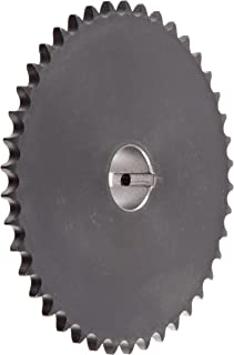 "Tsubaki 35B42FL Finished Bore Sprocket, Single Strand, Inch, #35 ANSI No., 3/8"" Pitch, 42 Teeth, 3/4"" Bore"