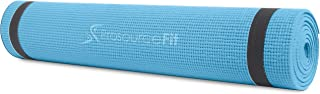 "ProsourceFit Original Yoga Exercise Mat ¼"" (6mm) Thick for Comfort and Stability with Carrying Straps, Non Slip"