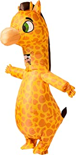 Spooktacular Creations Inflatable Costume Giraffe Full Body Giraffe Air Blow-up Deluxe Halloween Costume - Adult Size