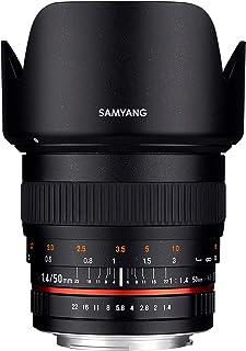 Samyang F1111106101 - Objetivo fotográfico DSLR para Sony E (Distancia Focal Fija 50mm Apertura f/1.4-22 AS UMC diámetro Filtro: 77mm) Negro
