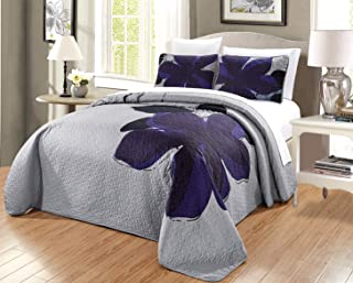 Best navy and grey bedspread Reviews