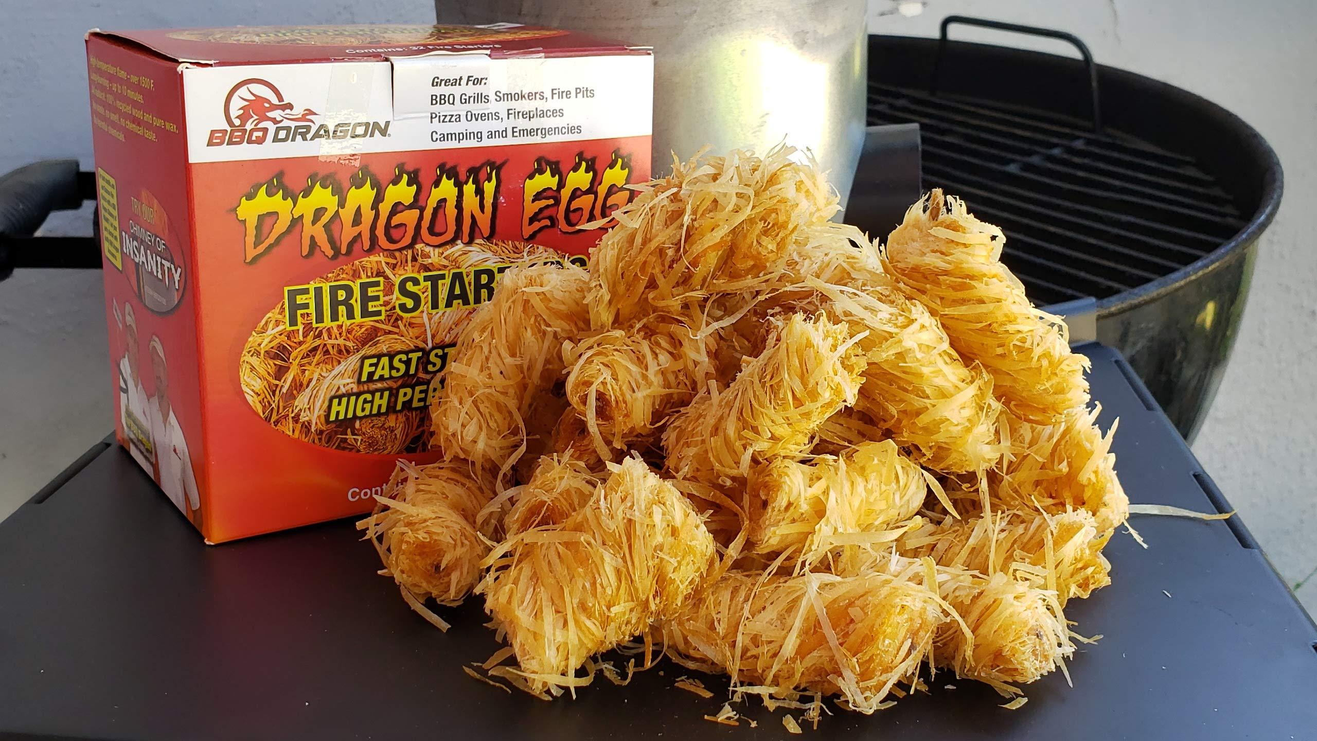 Arrancador de fuego de huevo de dragón para barbacoa – 32 piezas ...