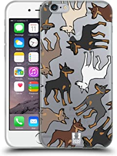 Head Case Designs Doberman Dog Breed Patterns 2 Soft Gel Case Compatible for iPhone 6 / iPhone 6s