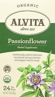 Alvita Tea Organic Herbal Passionflower Tea, 24 Count