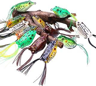 Sougayilang  ホローフロッグ  釣り用ルアー  トップウォーター用の柔らかいおとり  タックルボックス付き  バス  スネークヘッド  海水  淡水での釣り
