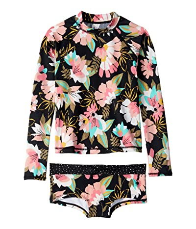 Billabong Kids Night Bloom Long Sleeve Rashguard Set (Little Kids/Big Kids) (Multi) Girl