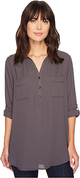 Stetson - 1403 Poly Crepe Dark Grey Shirt Blouse