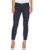 U.S. POLO ASSN. - Skinny Ankle Brit Stretch Denim Jeans in All Night/Polka Dot