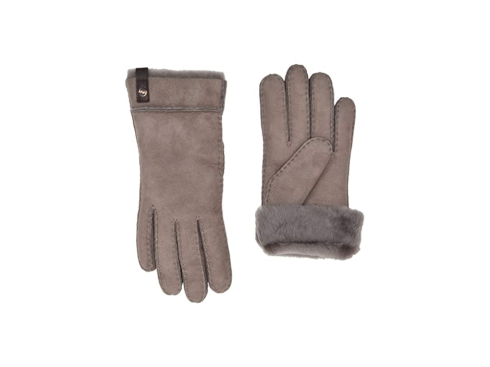 UGG Tenney Water Resistant Sheepskin Gloves (Stormy Grey Multi) Extreme Cold Weather Gloves