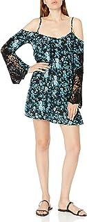 فستان لوسي لوف للنساء من حقول اللافندر الباردة الكتف الدانتيل الأكمام