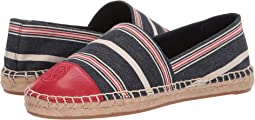 Striped Multi Canvas/Ruby Red