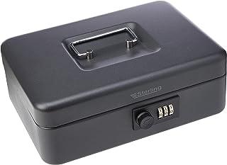 "Sterling CB03CBK 10"", 3-Dial Combination Lock Cash Box in Black Finish"