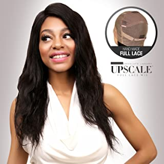UpScale 100% Virgin Glueless Remi Human Hair Hand Made Unprocessed Brazilian Human Hair Full Lace Wig Body Wave 150% Density NATURAL Color 20