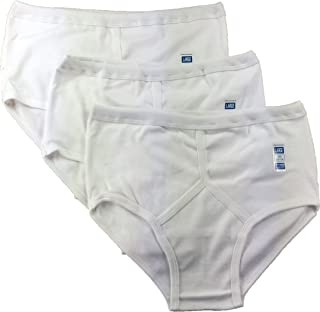 Sockstack 6 Pairs Men's White Y-Fronts Underpants, 100% Pure Cotton Trad Briefs Underwear, M L XL XXL