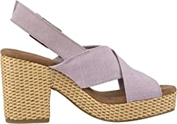 Burnished Lilac Heritage Canvas/Suede