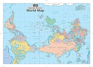 Upside Down World Wall Map - 34.5
