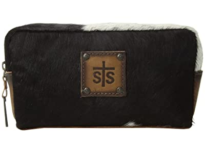 STS Ranchwear Bebe Cosmetic Bag (Cowhide/Tornado Brown) Handbags