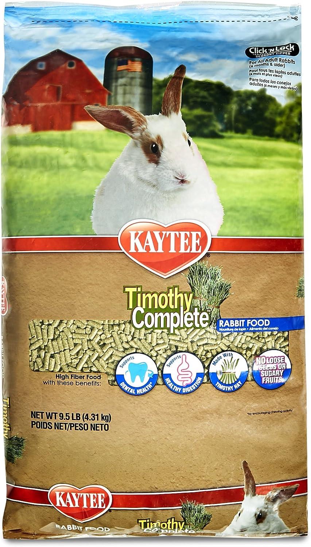Kaytee Timothy Hay Complete Rabbit Food, 9.5lb bag