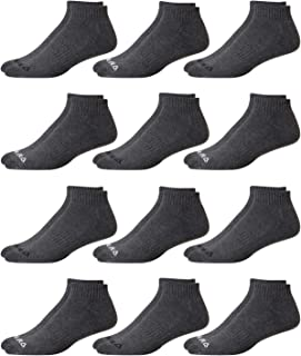 Reebok Men's Cushioned Comfort Breathable Quarter Cut Basic Socks (12 Pack)