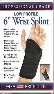 Florida Orthopedics Prolite Low Profile Wrist Splint, Black