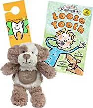 Tooth Fairy Kit - Plush Puppy Dog Figure with Pocket by Maison Chic, Loose Tooth a Tooth Fairy Book & Door Hanger for Boys About to Loose Their First Tooth (Puppy with Loose Tooth Book)