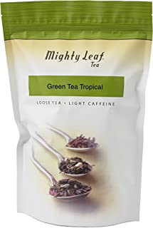 Mighty Leaf Loose Leaf Tropical Green Tea, 1 Pound Pouch Lightly Caffeinated Tropical Green Tea, Delicious as Hot or Iced,...
