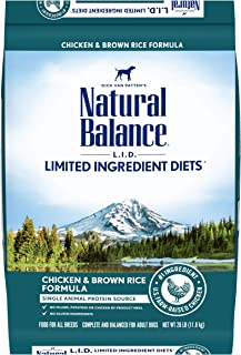 Natural Balance L.I.D. Limited Ingredient Diets Dry Dog Food, Chicken & Brown Rice Formula, 26 Pounds