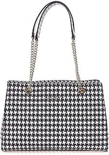 Luxury Fashion | Guess Womens HWEH7180090HOUNDSTOOTH Black Shoulder Bag | Fall Winter 19