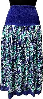 COTTON BREEZE Women's Cotton Skirt (Multi-Coloured) Purple