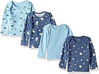 Hanes Ultimate Baby Flexy 4 Pack Long Sleeve Crew Tees