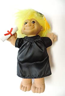 Yellow Haired Troll Graduation Plush Doll 8 in