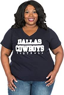 Dallas Cowboys Plus Size Football V-Neck Tee