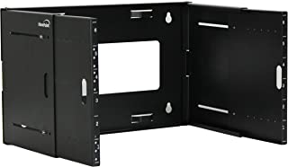 NavePoint 6U Wall Mount Bracket Extendable Network Equipment Rack Threaded Standard 19 Inch