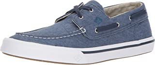 Sperry Mens Bahama II Boat Washed Sneaker, Navy, 9.5