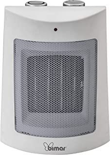Bimar Calefactor Electrico HP108, Calentador de Ventilador Eléctrico de 1500W de Bajo Consumo con Termostato Ajustable y 2 Potencias de Calentamiento, Cuerpo de Plástico con Asa Integrada
