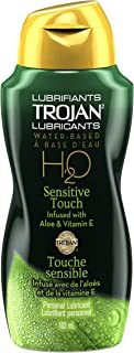 TROJAN H20 Sensitive Touch Aloe Infused, Water-based, Personal Lubricant, 163-ml