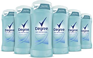 Degree Women Invisible Solid Dry Protection Invisible Solid Antiperspirant Shower Clean For Trusted Protection Up To 24 Hours 2.6 oz 6 Count