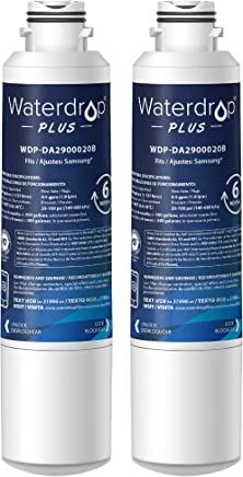 Waterdrop Plus DA29-00020B Refrigerator Water Filter, Compatible with Samsung DA29-00020B, DA29-00020A, HAF-CIN/EXP, 46-9101, Reduces Lead, Chlorine, Cyst, Benzene and More, NSF 401&53&42 Certified, Pack of 2