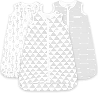 كيس نوم للأطفال - أكياس نوم للرضع من عمر 12 إلى 18 شهرًا - 3 عبوات - بطانية قطنية قابلة للارتداء - حقيبة أطفال بسحاب للجنس...
