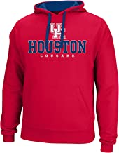 J America NCAA Houston Cougars Men's Logo School Name Foundation Hoodie, X-Large, Red/Navy