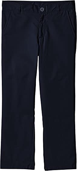 Husky Flat Front Twill Double Knee Pants (Big Kids)