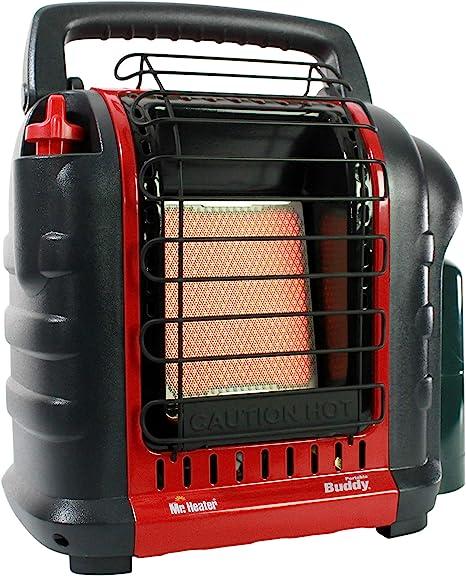 Mr. Heater F232000 MH9BX Buddy 4,000-9,000-BTU Indoor-Safe Portable Propane Radiant Heater, Red-Black: image