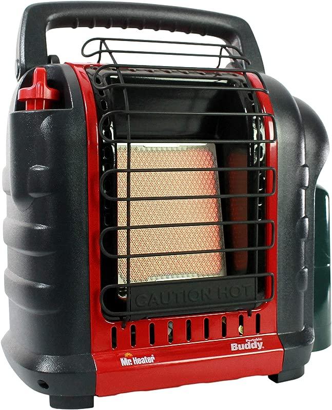Mr Heater F232000 MH9BX Buddy 4 000 9 000 BTU Indoor Safe Portable Propane Radiant Heater