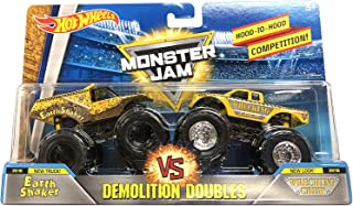Hot Wheels Monster Jam Demolition Doubles Earth Shaker Vs. Wrecking Crew 1:64 Scale